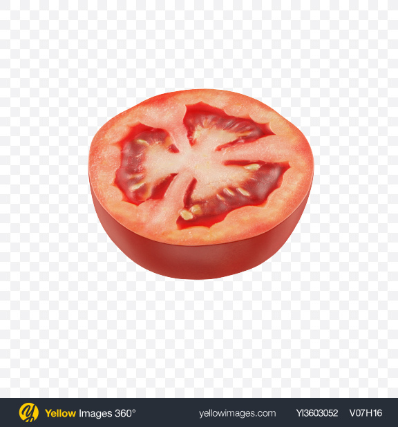 Download Half of Tomato Transparent PNG on Yellow Images 360°
