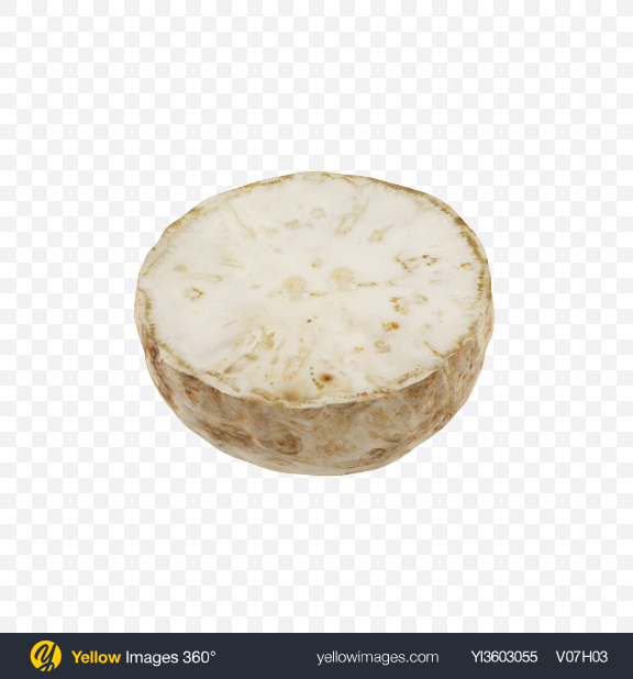 Download Half of Celery Root Transparent PNG on Yellow Images 360°
