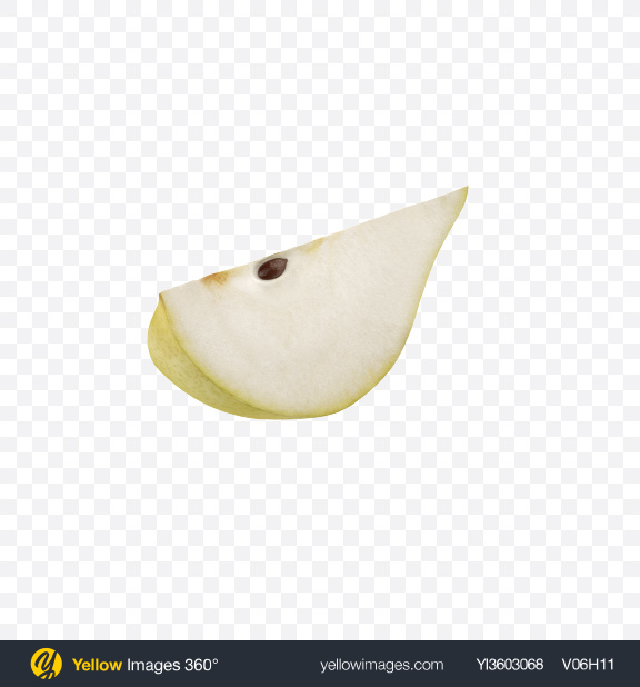 Download Green Pear Slice Transparent PNG on Yellow Images 360°