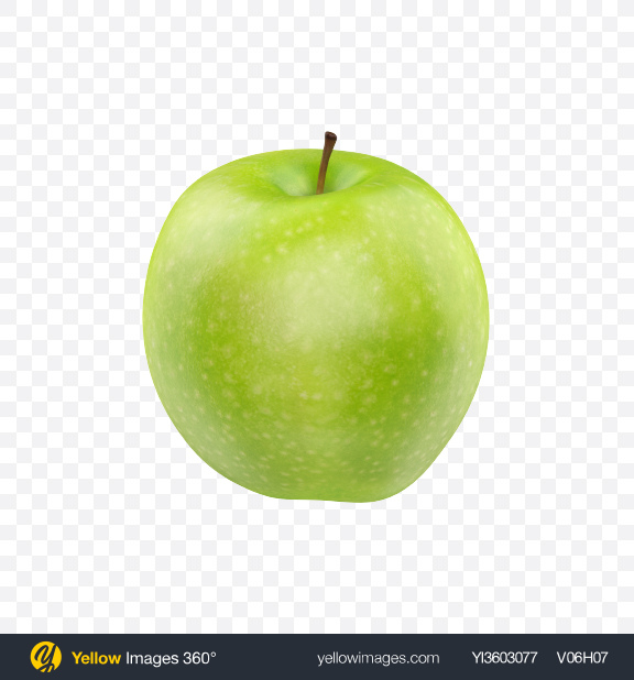 Download Green Apple Transparent PNG on Yellow Images 360°