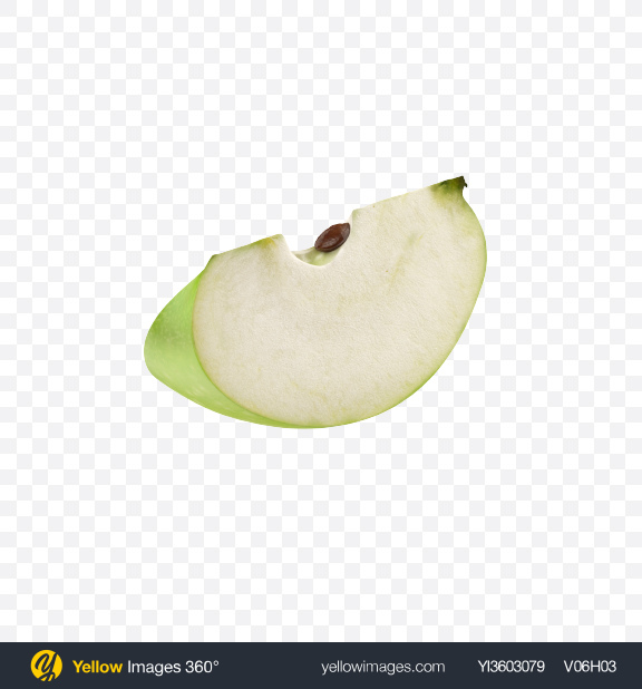 Download Green Apple Slice Transparent PNG on Yellow Images 360°