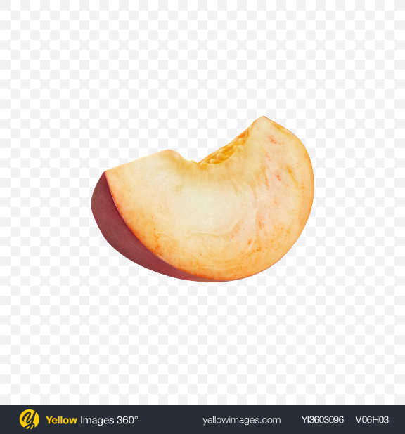 Download Peach Slice Transparent PNG on Yellow Images 360°