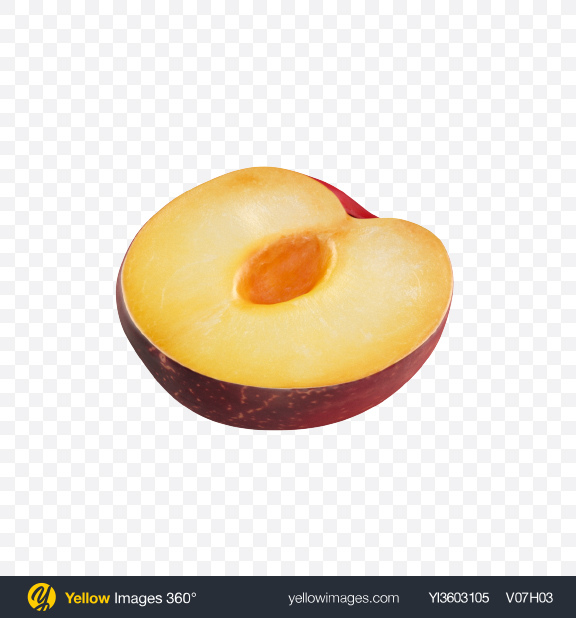 Download Half of Plum Transparent PNG on Yellow Images 360°