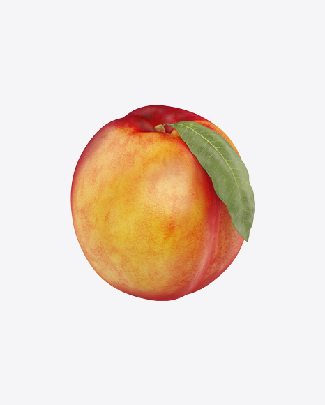 Nectarine with Leaf