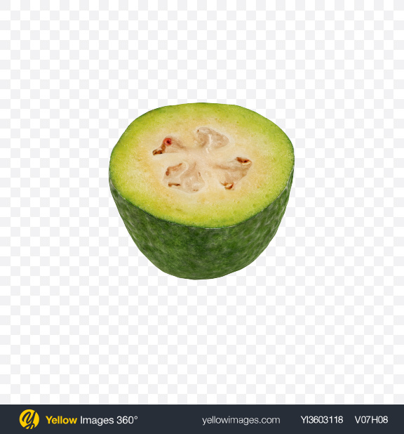 Download Half of Feijoa Transparent PNG on Yellow Images 360°