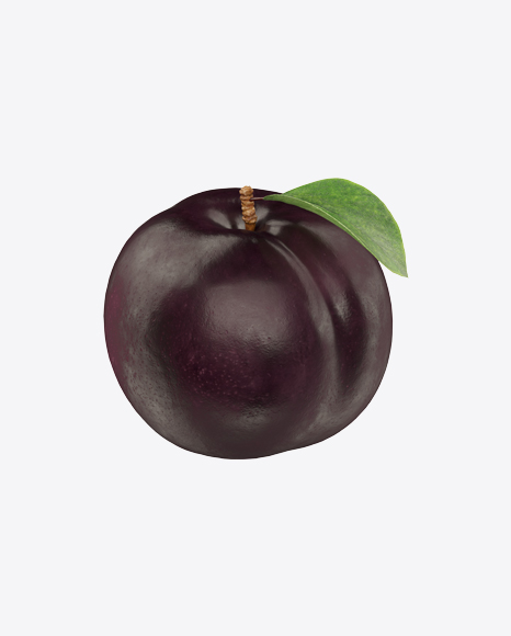 Black Plum with Leaf