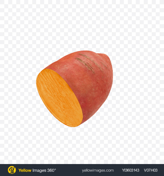 Download Half of Sweet Potato Transparent PNG on Yellow Images 360°
