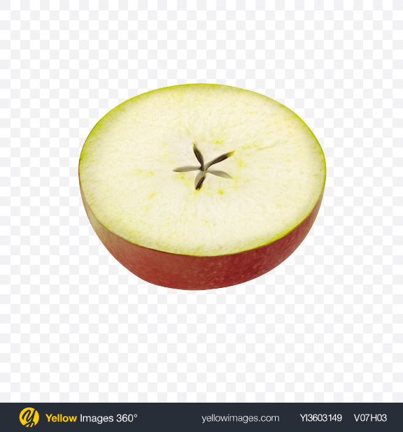 Download Half of Apple Transparent PNG on Yellow Images 360°