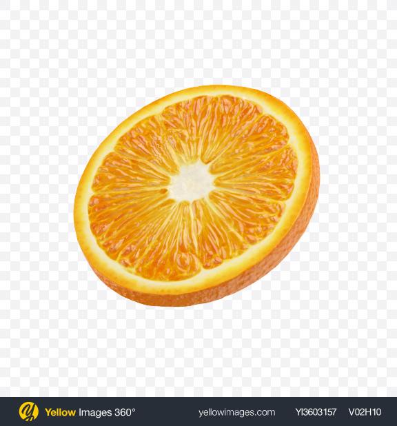 Download Orange Slice Transparent PNG on Yellow Images 360°