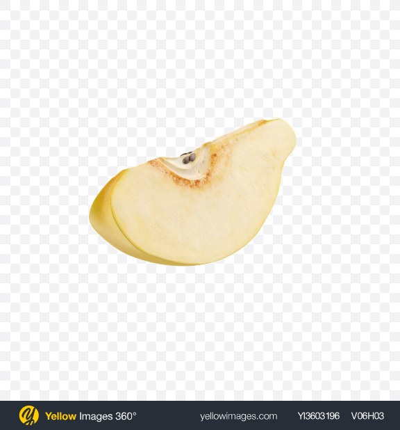 Download Quince Slice Transparent PNG on Yellow Images 360°