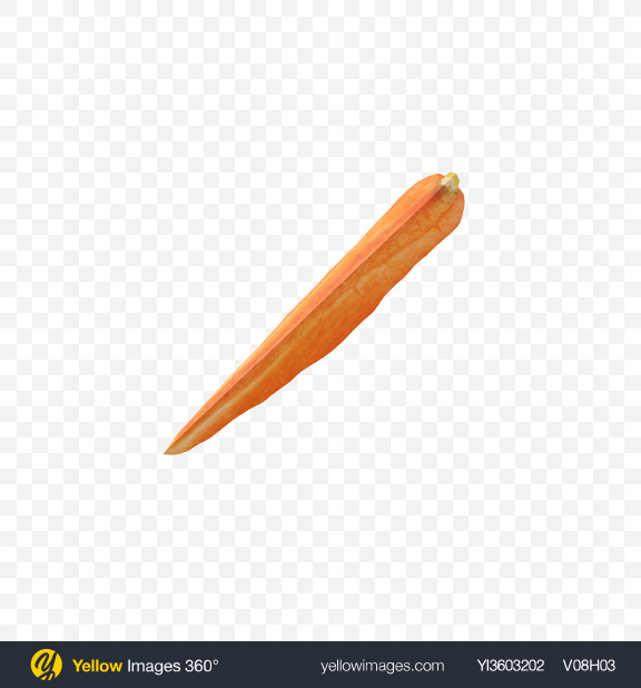 Download Orange Carrot Slice Transparent PNG on Yellow Images 360°