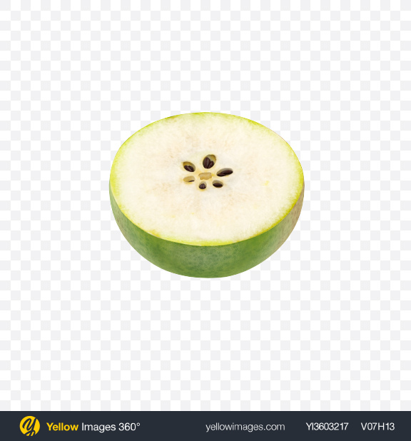 Download Half of Forelle Pear Transparent PNG on Yellow Images 360°