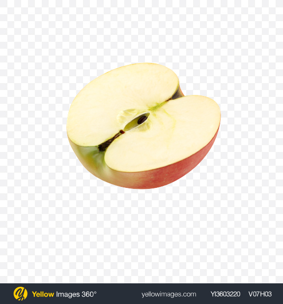 Download Half of Gala Apple Transparent PNG on Yellow Images 360°