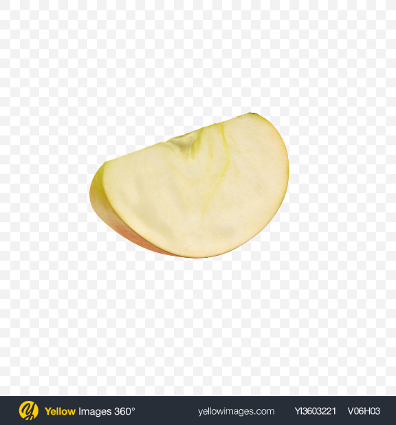 Download Gala Apple Slice Transparent PNG on Yellow Images 360°