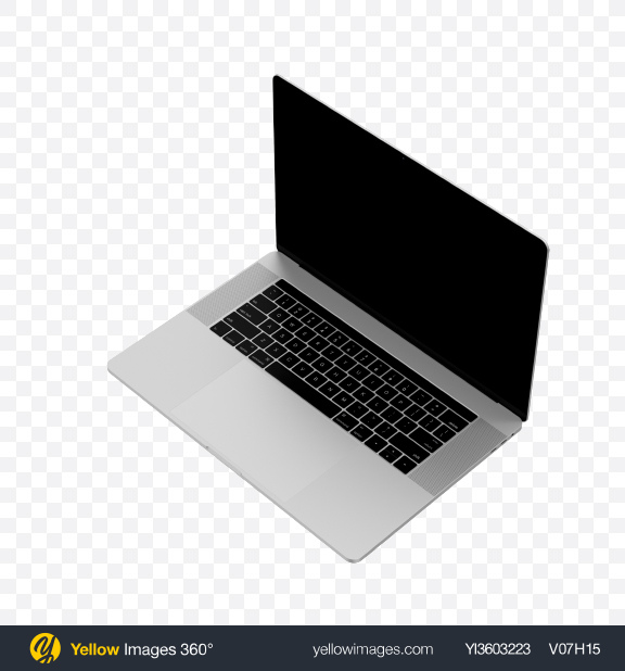 Download Macbook Pro 15 with Touchbar Transparent PNG on Yellow Images 360°
