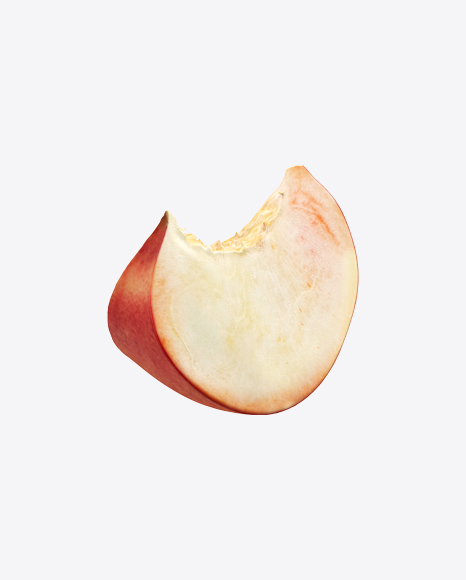 Flat Peach Slice