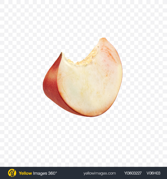 Download Flat Peach Slice Transparent PNG on Yellow Images 360°