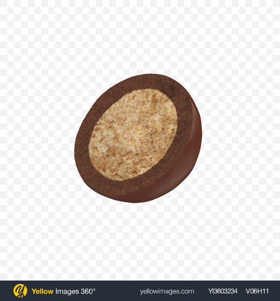 Download Half of Chocolate Ball Transparent PNG on Yellow Images 360°
