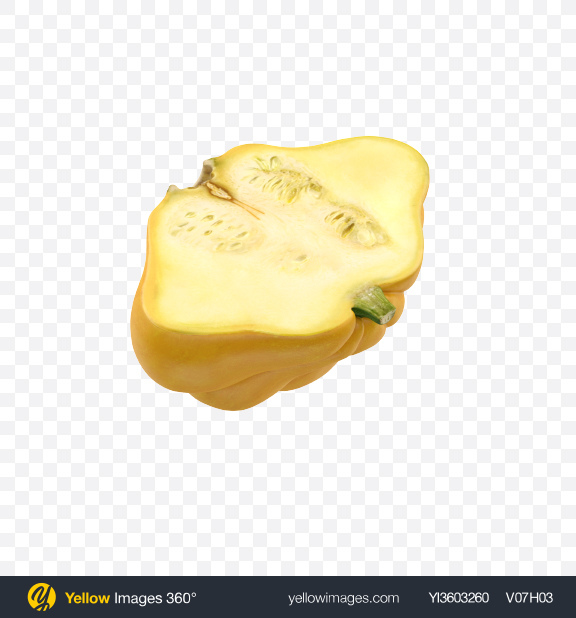 Download Half of Pattypan Squash Transparent PNG on Yellow Images 360°