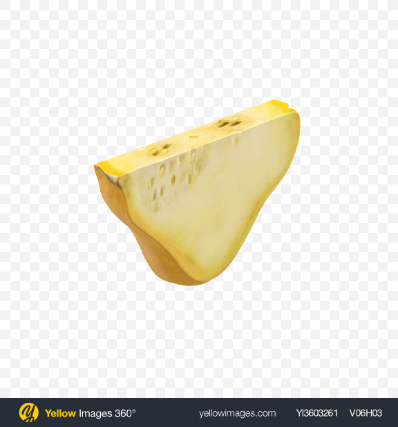 Download Pattypan Squash Slice Transparent PNG on Yellow Images 360°