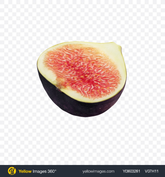 Download Half of Fig Transparent PNG on Yellow Images 360°