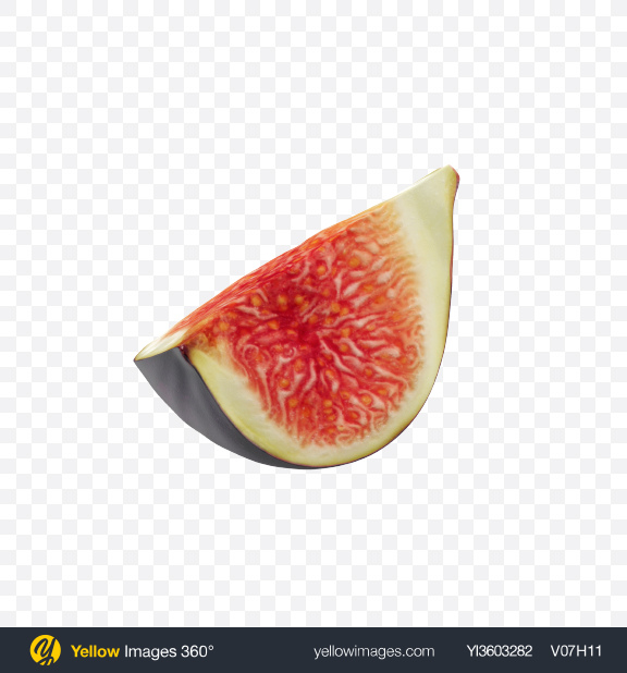 Download Fig Slice Transparent PNG on Yellow Images 360°