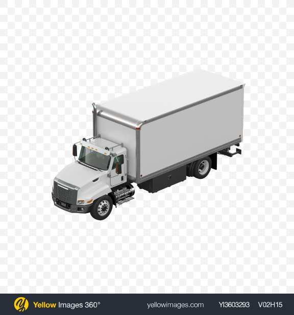 Download White Box Truck Transparent PNG on Yellow Images 360°