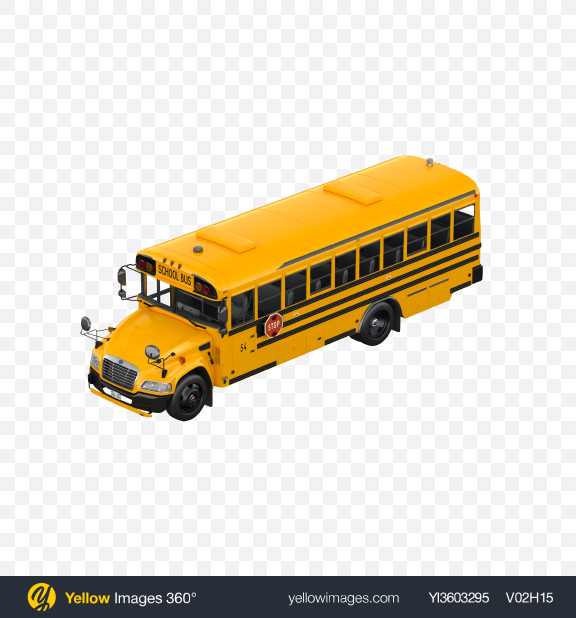 Download School Bus Transparent PNG on Yellow Images 360°