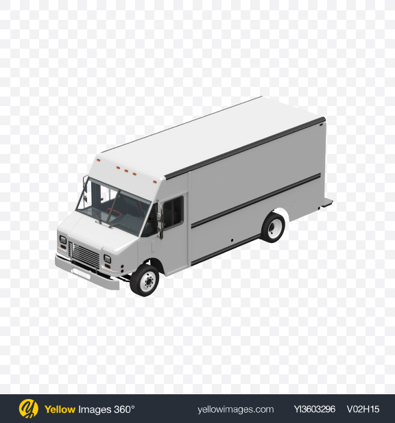 Download White Food Truck Transparent PNG on Yellow Images 360°