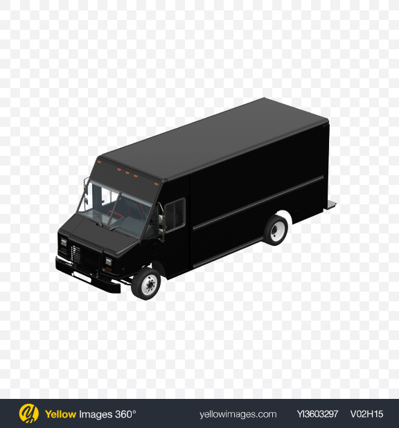 Download Black Food Truck Transparent PNG on Yellow Images 360°