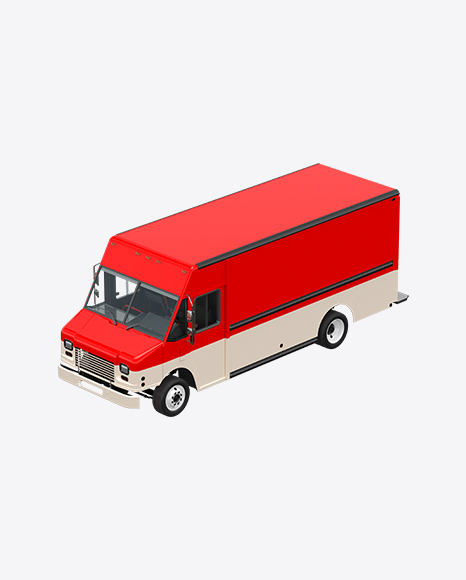 Red & White Food Truck