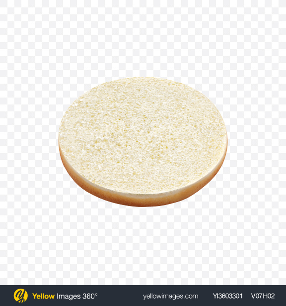 Download Bottom Half of Burger Bun Transparent PNG on Yellow Images 360°