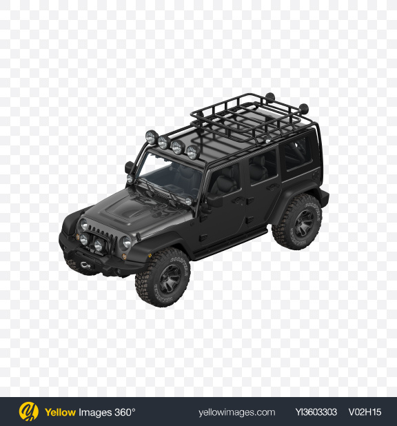 Download Black Off-Road SUV Transparent PNG on Yellow Images 360°