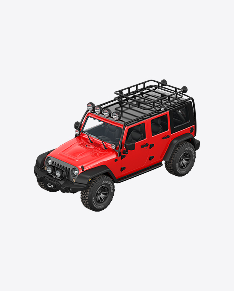 Red Off-Road SUV