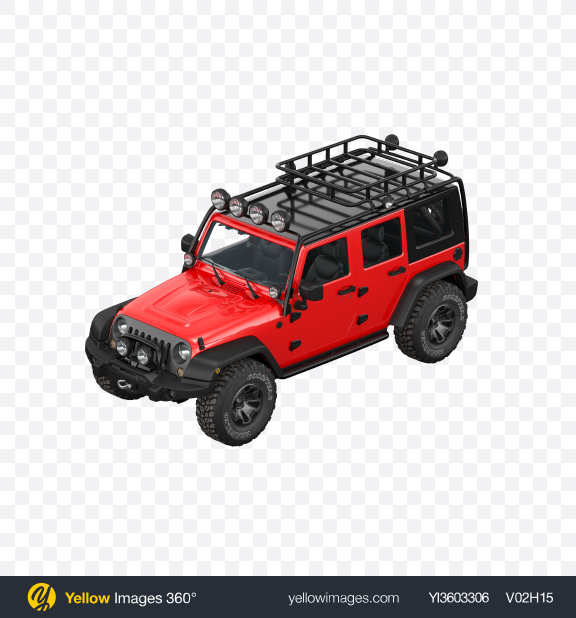 Download Red Off-Road SUV Transparent PNG on Yellow Images 360°