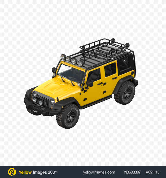 Download Yellow Off-Road SUV Transparent PNG on Yellow Images 360°