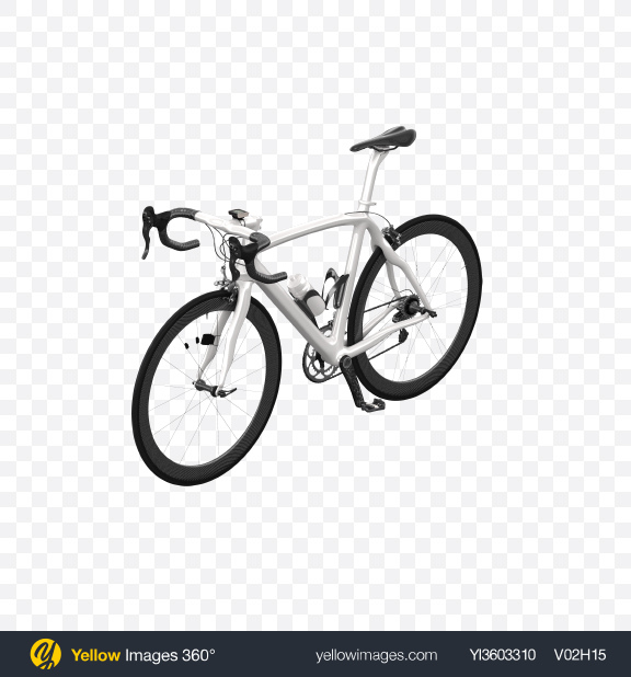 Download White Road Bicycle Transparent PNG on Yellow Images 360°