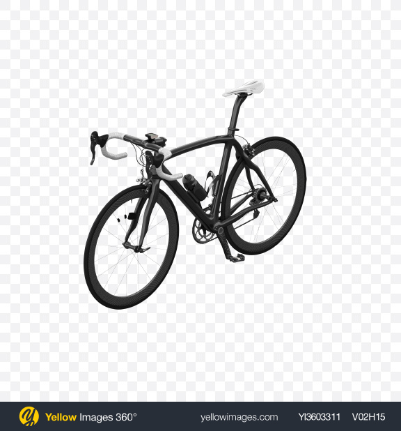 Download Black Road Bicycle Transparent PNG on Yellow Images 360°