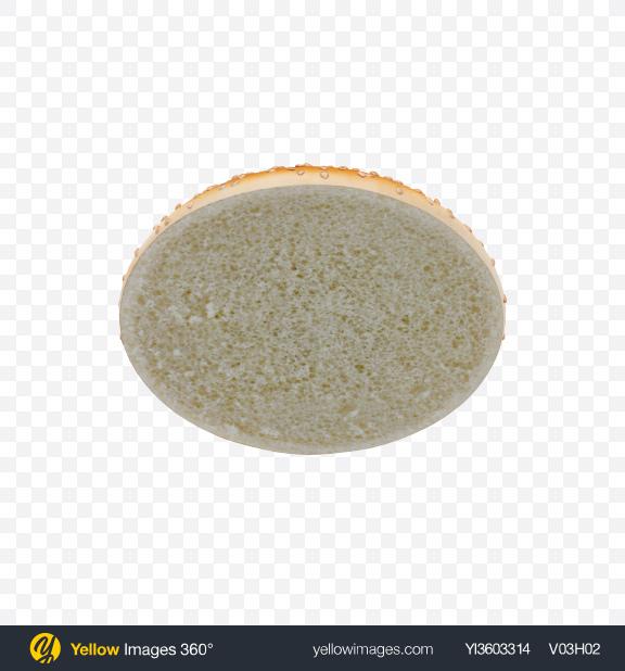 Download Burger Bun Top with Sesame Seeds Transparent PNG on Yellow Images 360°
