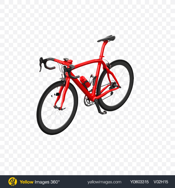Download Red Road Bicycle Transparent PNG on Yellow Images 360°