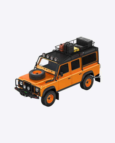 Orange Off-Road SUV