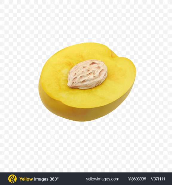 Download Half of Yellow Nectarine Transparent PNG on Yellow Images 360°