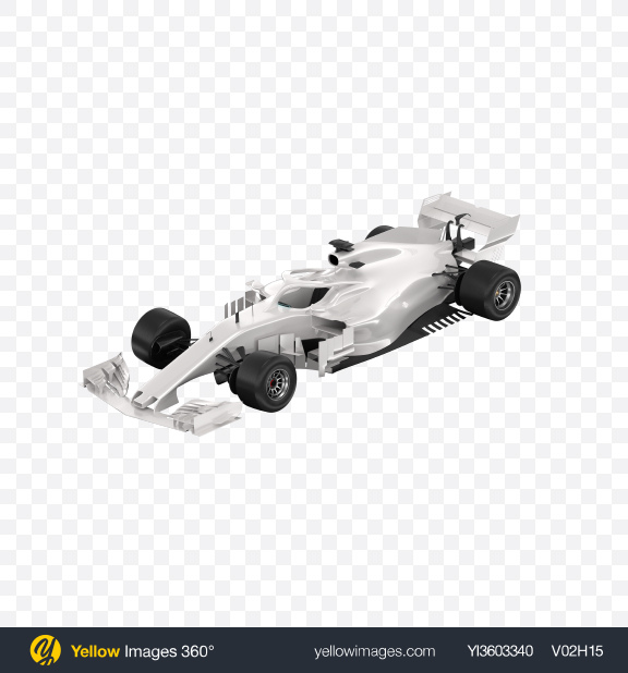 Download White Racing Bolid Transparent PNG on Yellow Images 360°