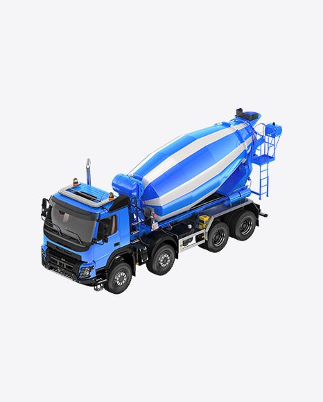 Blue Mixer Truck