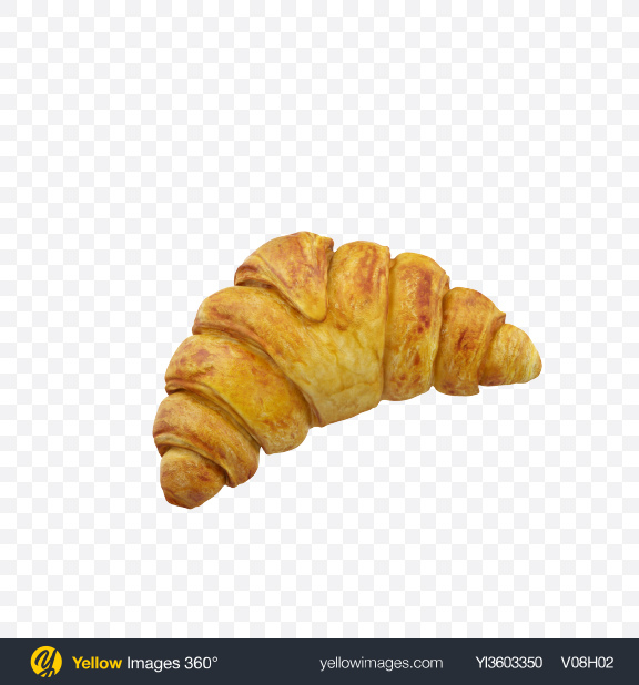 Download Croissant Transparent PNG on Yellow Images 360°
