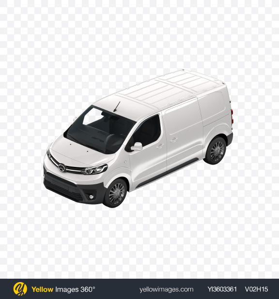 Download White Panel Van Transparent PNG on Yellow Images 360°