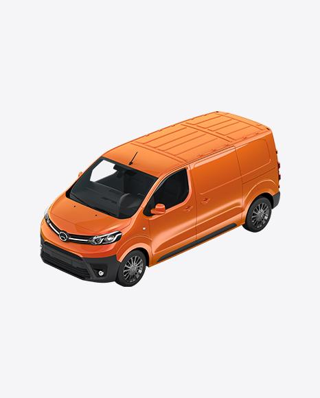 Orange Panel Van