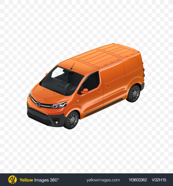Download Orange Panel Van Transparent PNG on Yellow Images 360°