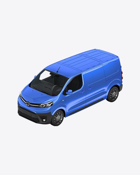 Blue Panel Van