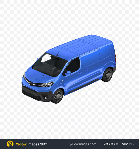 Download Blue Panel Van Transparent PNG on Yellow Images 360°